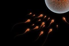 Sperm Attack. Digital illustration of Sperm Attack in 3d on digital background Royalty Free Stock Photo