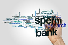 Sperm bank word cloud Royalty Free Stock Photo