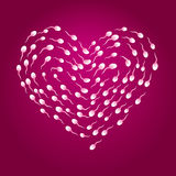Sperm heart Royalty Free Stock Images
