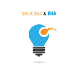 Sperm symbol and light bulb sign.Creative idea and success icon. Stock Photos