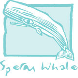 Sperm Whale in Blue Royalty Free Stock Image