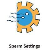Sperma die Geïsoleerd en Vectorpictogram voor Technologie testen vector illustratie