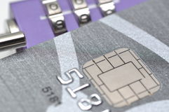 Sperren Sie Ihre Kreditkarte Stockfotos