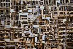 Sperrholz geschnitten durch Laser Stockfotos