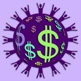 Spesa e risparmio della gente Immagine Stock Libera da Diritti