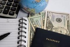Spese di viaggio calcolarici Immagini Stock Libere da Diritti
