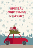 Spesial christmas delivery vector Illustration Royalty Free Stock Photo