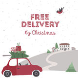 Spesial christmas delivery vector Illustration Stock Photo