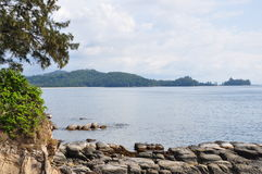 Spets av Borneo, Simpang Mengayau, Sabah, Malaysia Arkivbild