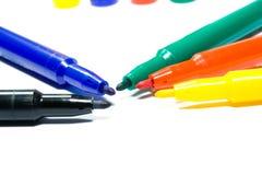 spets för färgfiltpennor Arkivfoto
