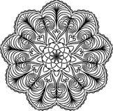 Spets- modell för Mandala Dekorativ prydnad i cirkel stock illustrationer