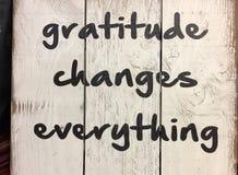 Spets om tacksamhet arkivfoto