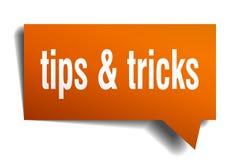 Spetsar & bubbla för anförande 3d för trick orange stock illustrationer