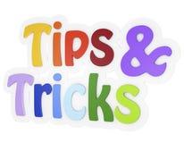 Spetsar och text för trick 3d royaltyfri illustrationer