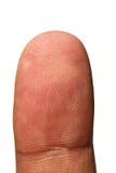 Spetsen av människan räcker den unika visningen identifierar med fingeravtryck Royaltyfri Foto
