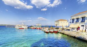 美丽的希腊海岛, Spetses 库存照片