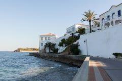 Spetses promenade Stock Photo