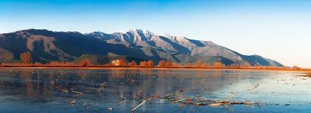 Spettacolo congelato del lago Fotografia Stock Libera da Diritti