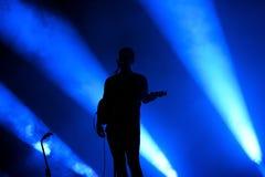 Spettacolo dal vivo alternativo indipendente della banda alt-J al suono 2015 di Primavera Immagini Stock