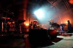 Spettacolo dal vivo caldo della banda di musica elettronica del chip al festival del sonar Fotografie Stock