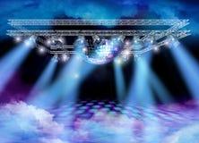 Spettacolo di cielo della discoteca Fotografia Stock Libera da Diritti