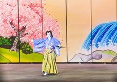 Spettacolo di Kabuki alle fontane di Bellagio Fotografia Stock Libera da Diritti