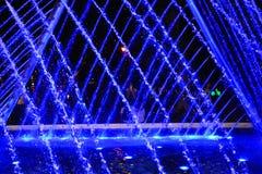 Spettacolo di luci dell'acqua nella città di Lima immagini stock
