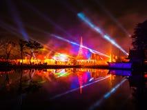 Spettacolo di luci di Ayutthaya, storia di Ayutthaya, Tailandia Immagine Stock