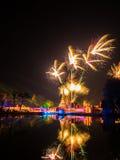 Spettacolo di luci di Ayutthaya, storia di Ayutthaya, Tailandia Fotografie Stock