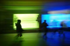 Spettacolo di luci, esposizione lunga dell'estratto, pittura leggera Immagine Stock Libera da Diritti