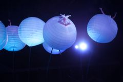 Spettacolo insolito di notte Fotografia Stock