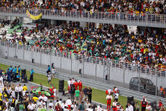 Spettatori alla tribuna principale fotografia stock