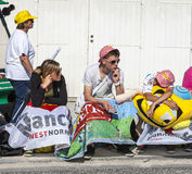 Spettatori del Tour de France di Le Fotografia Stock