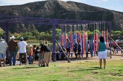Spettatori 2014 della corsa del fango di Muderrella Fotografia Stock