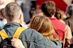 Spettatori delle coppie Immagine Stock Libera da Diritti