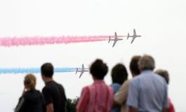 Spettatori di Airshow immagine stock libera da diritti