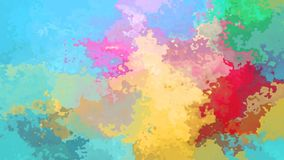 spettro completo macchiato animato di colore pastello del ciclo senza cuciture del fondo video stock footage