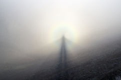 Spettro del Brocken Fotografia Stock