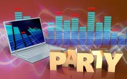 spettro del computer portatile 3d Immagini Stock Libere da Diritti