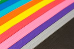 Spettro di colore di carta Fotografia Stock Libera da Diritti