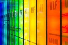 Spettro di frequenza immagini stock