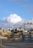 spewing загрязнения промышленных предприятий Стоковое Фото
