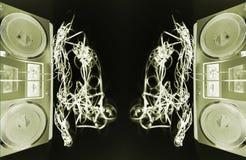 spewing band för boombox Royaltyfria Bilder