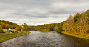 The Spey at Blacksboat Stock Images