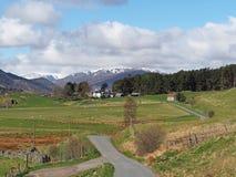 Spey dolina za zachód od Laggan, Szkocja Zdjęcie Royalty Free