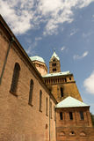 Speyer Cathedral. Imperial Cathedral Basilica of the Assumption and St Stephen stock photo