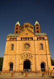 Speyer Cathedral main facade, Germany. Speyer Cathedral main facade, Speyer, Germany Royalty Free Stock Images