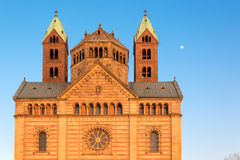 Speyer Cathedral at sunny day, Germany Stock Photos