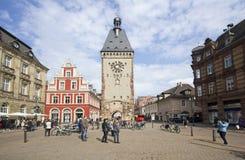 Speyer Clocktower, Duitsland Royalty-vrije Stock Afbeeldingen
