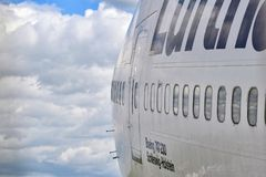 View of a Jumbo Jet. Royalty Free Stock Images